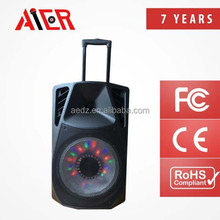 Aier China Wholes with LED display light speaker bluetooth stereo speaker small promotion plastic speaker