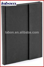 textura negro envoltura magnética libretas