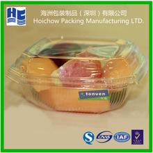 Disposable transparent clear folding box fruit packaging box plastic folded box