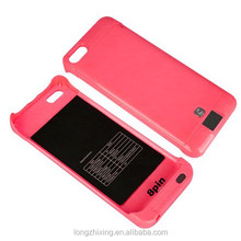 battery charger case for iphone5/5c/5s,rechargeable power case power bank pack for mobilephone