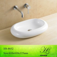 HS-8032 Hanse factory above counter oval sharpe wash basin pictures