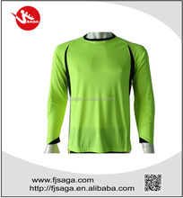 Professional long sleeves goalkeeper with padding and rib on neck and cuff