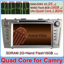 Ownice Quad Core Cortex A9 Pure Android 4.4.2 camry car stereo HD 1024*600