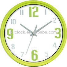 Engraved Crystal Clock Green Number White Dial