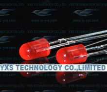 yxslight 3mm led & round without brim,red led red light,ordinary light, short pin & dip led