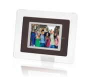 white 2.4 inch programmable digital photo frame with Photo,audio,calendar,clock