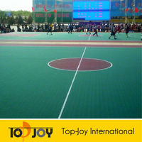 Eco friendly outdoor vinyl PP Sports Floor Covering
