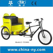 26 pouces. passager pedicab/3 roue de vélo taxi/tc8002/vélo triporteur cargo