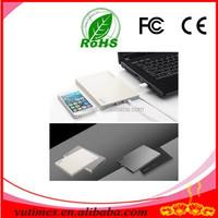 Good quality grey, white ultra-thin mobile power / 20000 mah power bank/Dual USB power bank
