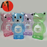 kids plastic personalized money box