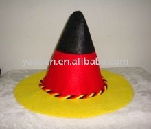 Germany oktoberfest hats with German flag colorful braids for bavarian beer festival