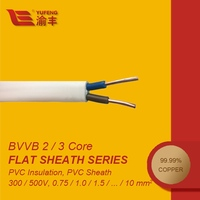 HOT SALE PVC Insulated 2x1.0mm Flat PVC Sheath Electric Cable