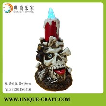 Halloween Skull ghost with solar light for outdoor party decoration