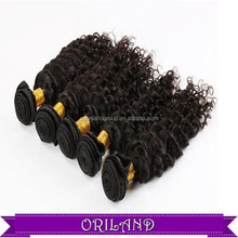100% huamn hair extention /peruvian hair weaving Factory Sell Directly kinky curl