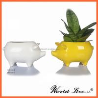 NHTC1102 2015 New Pig Shape Ceramic Pot Home Decoration