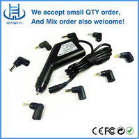 Fashion design white/black car charger with usb 5v 2a and connector 16.5v 3.65a