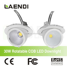 2015 High Luminous 30W Power Cob Led Downlight
