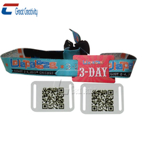 125khz Low frequency for festival events TK4100 RFID woven wristband