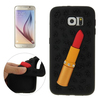 New product 3D Lipstick Pattern Silicone Protective case for Samsung Galaxy S6