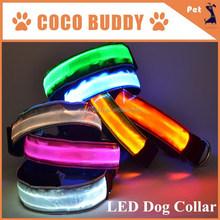 2.5cm Hot 3 Mode LED safety Light Collar for Dog Large breed