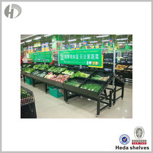 fruit and vegetable advertising display supermarket shelf with label holder