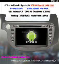 Quad core R16 double din car radio gps for new Fit 2012 with gps android BT tv wifi 3G/4G SWC mirror link 2 years warranty