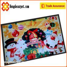 Custom printed door mat with PVC backing merry christmas