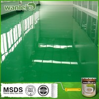 Bright, beautiful, wearable epoxy polymer floor coating