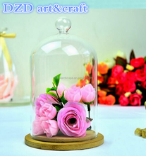 2015 New style decorative glass dome Hot selling dome glass High borosilicate flower glass dome