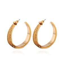 2015 latest trends zinc alloy small gold earrings