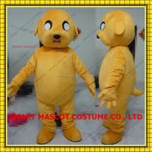 Adventure time yellow Jack dog mascot costume with clear visual adult Jack dog mascot costume