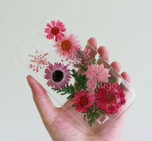 Dry pressed natural real flower cell phone accessory for iphone 5 case, for iphone 5 case