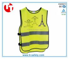 EN1150 standard high visibility waistcoat reflex vest reflective garments