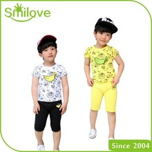 Hot summer import china products sportswear type baby boy kids tracksuit fashion knit cotton children clothing set