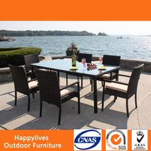 MT2938 Rattan Cube Garden Furniture/ rattan dining chairs / outdoor furniture dinning set