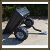 Top quality gardening tipping poly utility trailer