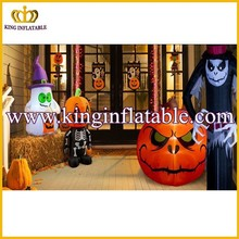Attractive Comercial Yard Halloween Inflatable Ghost And Pumpkin, Halloween Air Blown Inflatables