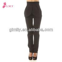 New design lady open crotch pants peplum elegant dress pant