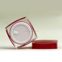50ml Acrylic Red Wholesale New Square Cosmetic Jars