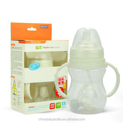 2015 BPA free baby bottle warmer baby nursing bottle anti-slip baby milk glass bottle protective cover