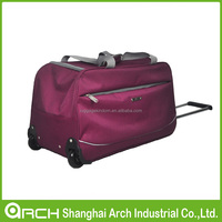 Tapestry Wheeled Rolling Travel Soft Duffle Luggage Bag
