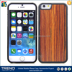 china supplier simple real wood plastic case for iPhone 6