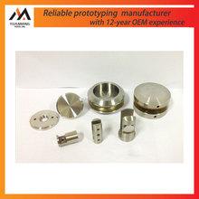 manufacturer aluminum round parts nature polished alu 6061 metal parts drilling in Jiangsu