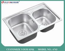 fast supplier nice electroplating sink sprayer 6743