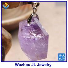 2015 Alibaba Wholesale Natural Purple Crystal David Star Pendant Salomon Seal Pendant