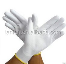 Cheap Economic 13G PU Palm Fit Glove PU Palm Coated Safety Work PU Gloves for Electronic