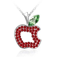 Christmas Accessories Apple Shaped Designs Coral Necklace