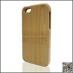 Low moq maple wooden phone case for iphone 5c case wood