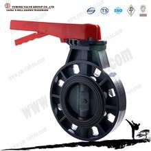 API standard Handle PVC plastic price butterfly valve dn250