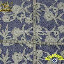 bordado cordón de la gasa apliques de tela decorativa con cuentas YJC30054